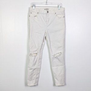 Free People Destroyed Skinny Ankle Jeans Size 31